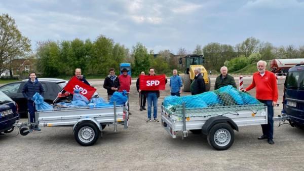 Gruppenbild Müllsammelaktion